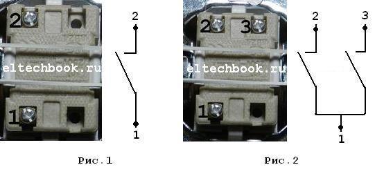Схема монтажа проходных выключателей